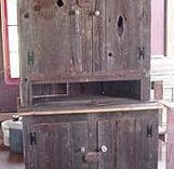 Primitive 2-piece Barnwood Country Hutch (Pick-Up-Only)