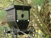 Amish Crafted Buggy Bird House with Cast Aluminum Wheels