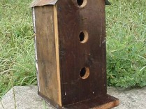 Amish Handmade 3 Hole Verticle Birdhouse