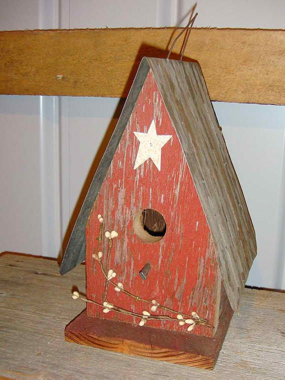 Amish Handcrafted Berry Birdhouse