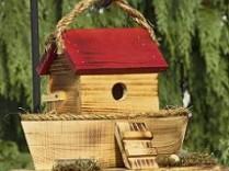 Noah's Ark Rustic Birdhouse